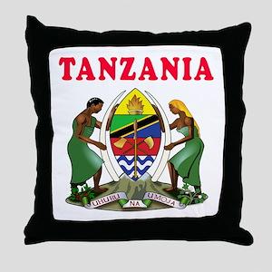 Tanzania Coat Of Arms Designs Throw Pillow