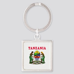 Tanzania Coat Of Arms Designs Square Keychain