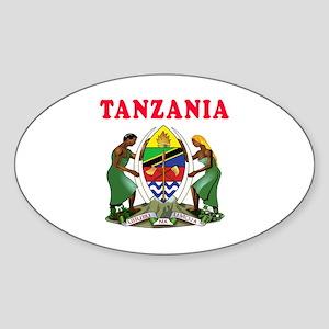 Tanzania Coat Of Arms Designs Sticker (Oval)