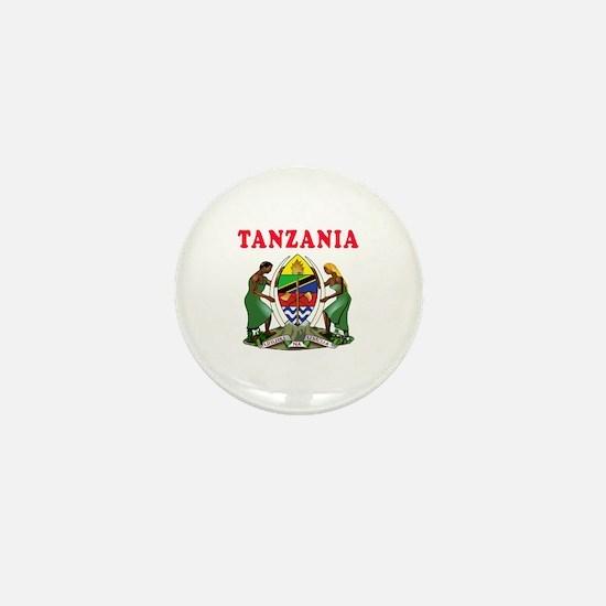 Tanzania Coat Of Arms Designs Mini Button