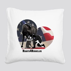 Hearts4Heroes Square Canvas Pillow