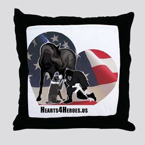 Hearts4Heroes Throw Pillow