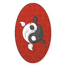 Yin and Yang Sticker (Oval)