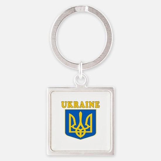 Ukraine Coat Of Arms Designs Square Keychain