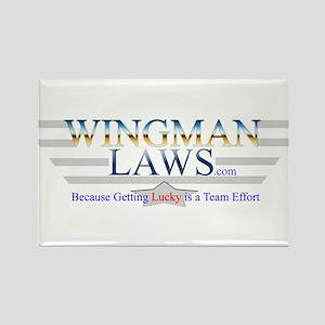 WingmanLaws Logo Rectangle Magnet