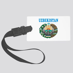 Uzbekistan Coat Of Arms Designs Large Luggage Tag