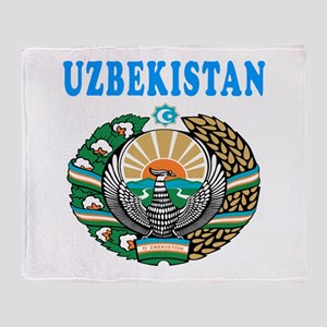 Uzbekistan Coat Of Arms Designs Throw Blanket