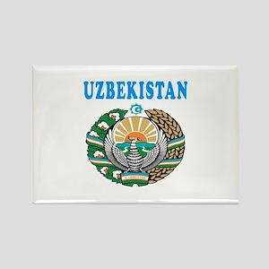 Uzbekistan Coat Of Arms Designs Rectangle Magnet