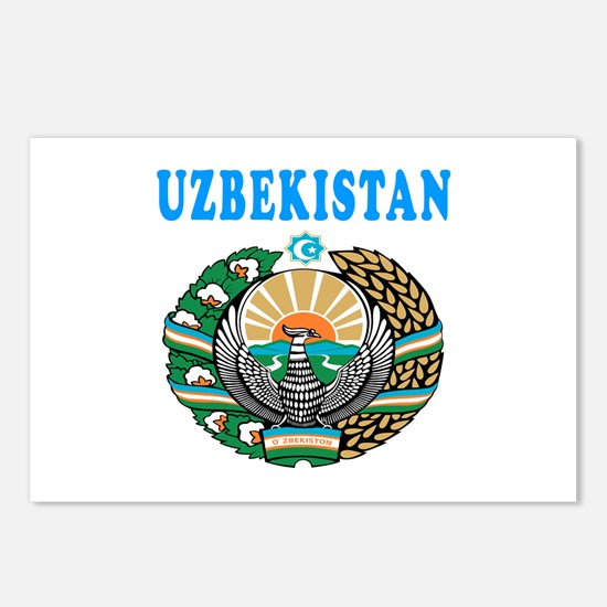 Uzbekistan Coat Of Arms Designs Postcards (Package