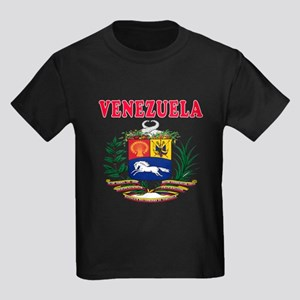 Venezuela Coat Of Arms Designs Kids Dark T-Shirt