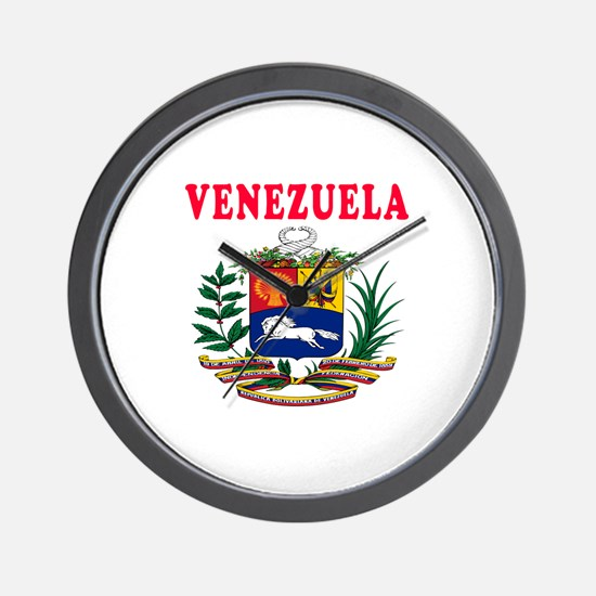 Venezuela Coat Of Arms Designs Wall Clock