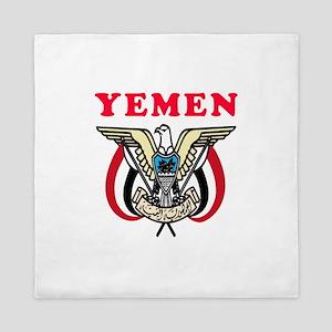 Yemen Coat Of Arms Designs Queen Duvet