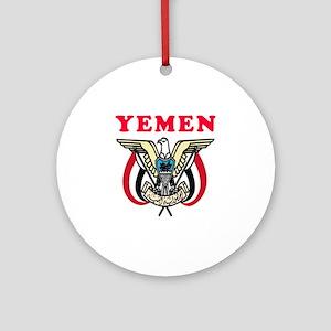 Yemen Coat Of Arms Designs Ornament (Round)