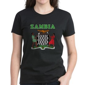 Zambia Coat Of Arms Designs Women's Dark T-Shirt