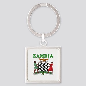 Zambia Coat Of Arms Designs Square Keychain