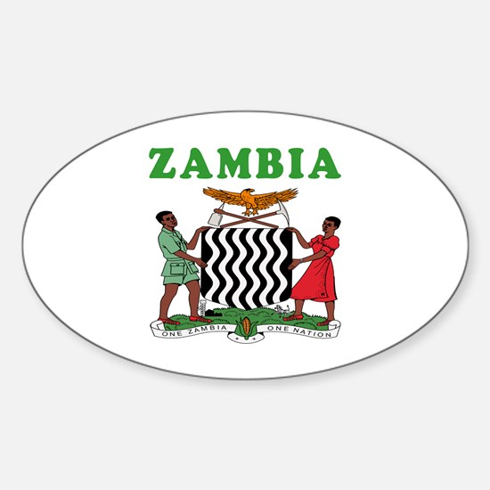 Zambia Coat Of Arms Designs Sticker (Oval)