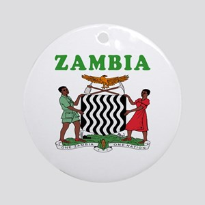 Zambia Coat Of Arms Designs Ornament (Round)