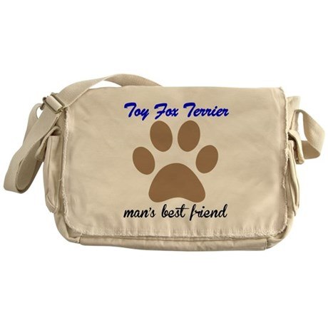 Toy Fox Terrier Mans Best Friend Messenger Bag