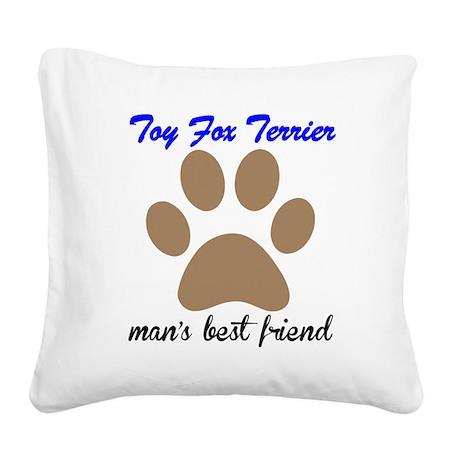 Toy Fox Terrier Mans Best Friend Square Canvas Pil
