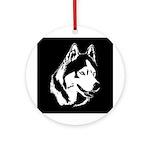 Siberian Husky Malamute Sled Dog Ornament