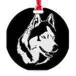Siberian Husky Ornaments Sled Dog Round Ornament