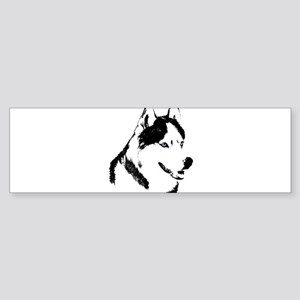 Siberian Husky Sled Dog Sticker (Bumper)