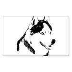 Siberian Husky Sled Dog Sticker (Rectangle 10 pk)