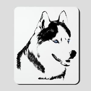 Siberian Husky Mouspad Sled Dog Mousepad