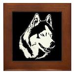 Siberian Husky Gifts Sled Dog Framed Tile