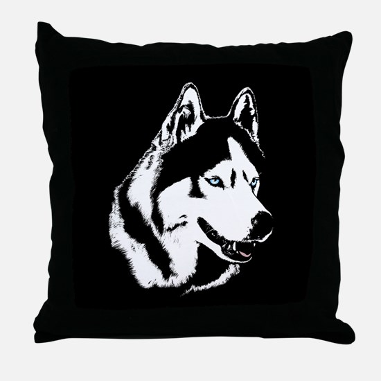 Siberian Husky Pillows Sled Dog Throw Pillow
