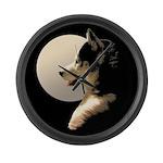 Siberian Husky Clock Sled Dog Modern Wall Clock