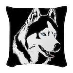 Siberian Husky Sled Dog Woven Throw Pillow