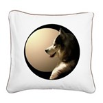 Siberian Husky Pillows Sled Dog Canvas Pillow