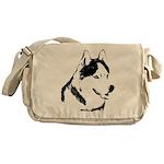 Siberian Husky Bags Sled Dog Messenger Bag