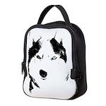 Siberian Husky Sled Dog Neoprene Lunch Bag