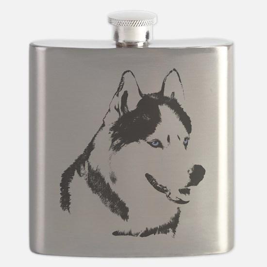 Siberian Husky Sled Dog Flask