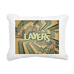 Layers Rectangular Canvas Pillow