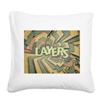 Layers Square Canvas Pillow
