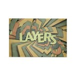 Layers Rectangle Magnet