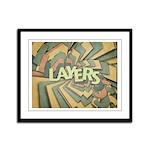 Layers Framed Panel Print