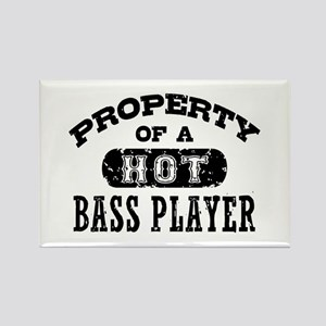 Property of a Hot Bass Player Rectangle Magnet