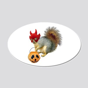 Trick or Treat Squirrel Wall Decal