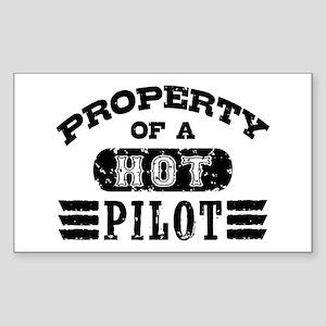 Property of a Hot Pilot Sticker (Rectangle)