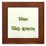 Farmer Family Historian Framed Tile