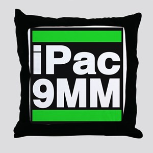 ipac 9mm green Throw Pillow