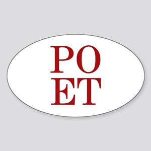 POET Oval Sticker