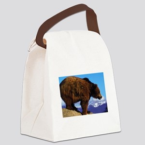 A Grizzly View Canvas Lunch Bag