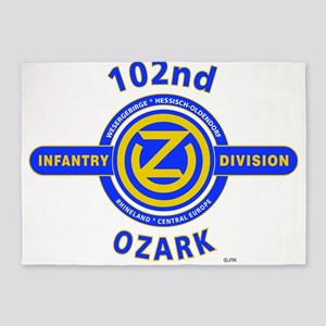 102nd Infantry Division Ozark 5'x7'Area Rug