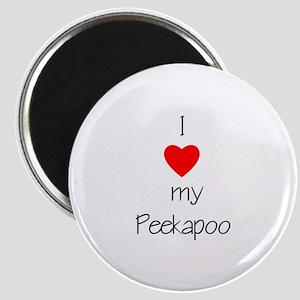I love my Peekapoo Magnet
