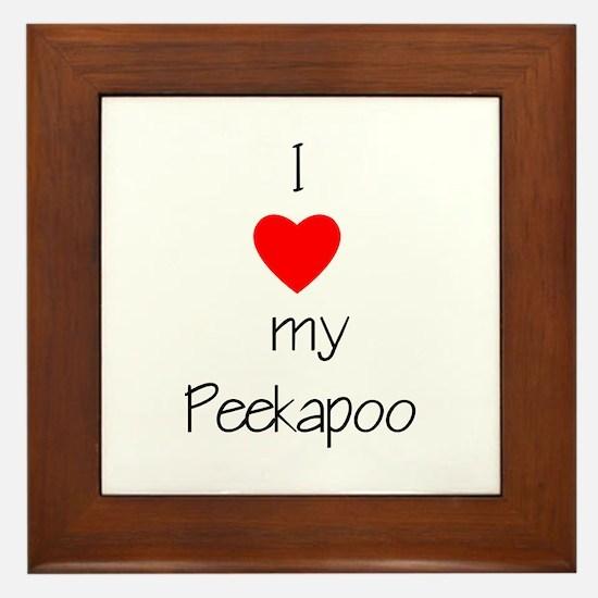 I love my Peekapoo Framed Tile